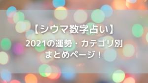【琉球風水志・シウマの数字占い】総合運・恋愛運・金運・仕事運カテゴリ別まとめページ