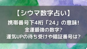 シウマ携帯下4桁占い「24」の数字の意味!待ち受けや暗証番号も【2021最新】