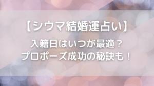 【シウマ結婚運占い】入籍日はいつが最適?プロポーズ成功の秘訣も!